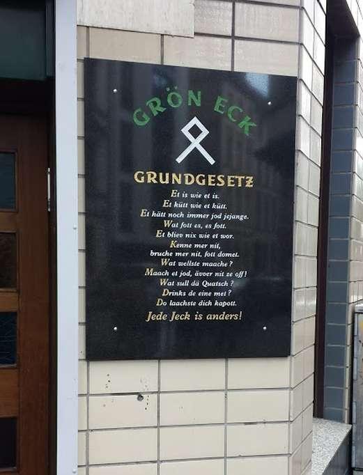 das Kölner Grundgesetz ( jrundjesetz ), Gaststätten-Werbung in Köln