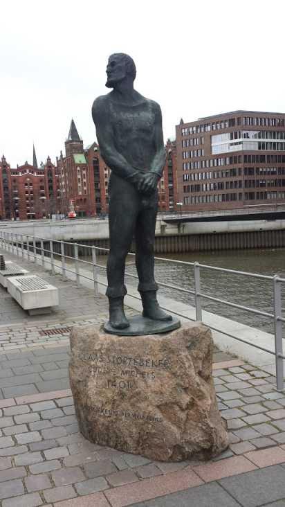 Denkmal Klaus Störtebecker Hamburg, Hafencity