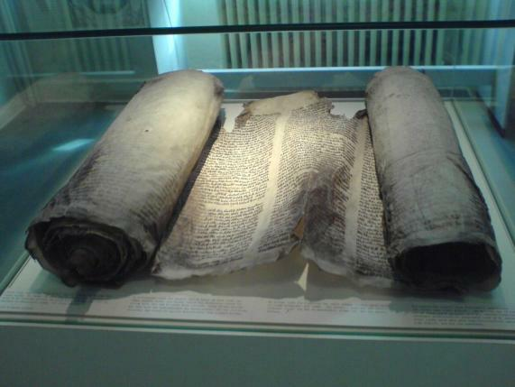 zerstörte Thora-Rolle, Stadtmuseum Lüdenscheid