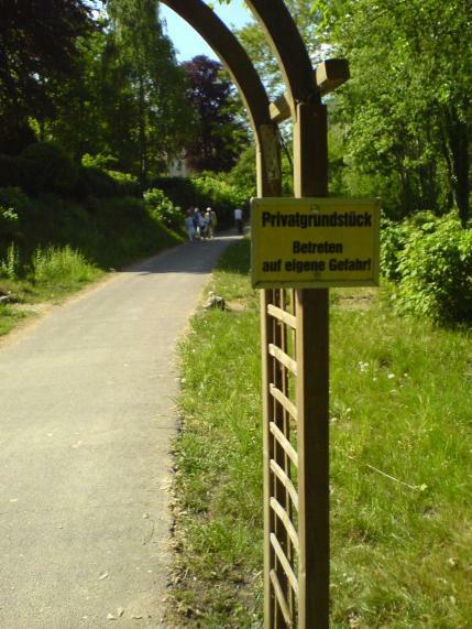 Anwohner-Ärger am Uferweg Griebnitzsee 2007