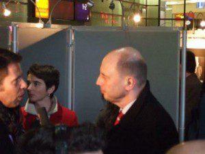 """Verkehrsminister Tiefensee am 23.1.2008 bei der Eröffnung der Ausstellung """"Sonderzüge in den Tod – Die Deportationen mit der Deutschen Reichsbahn"""""""