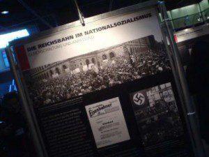 Reichsbahn Holocaust Ausstellungstafel