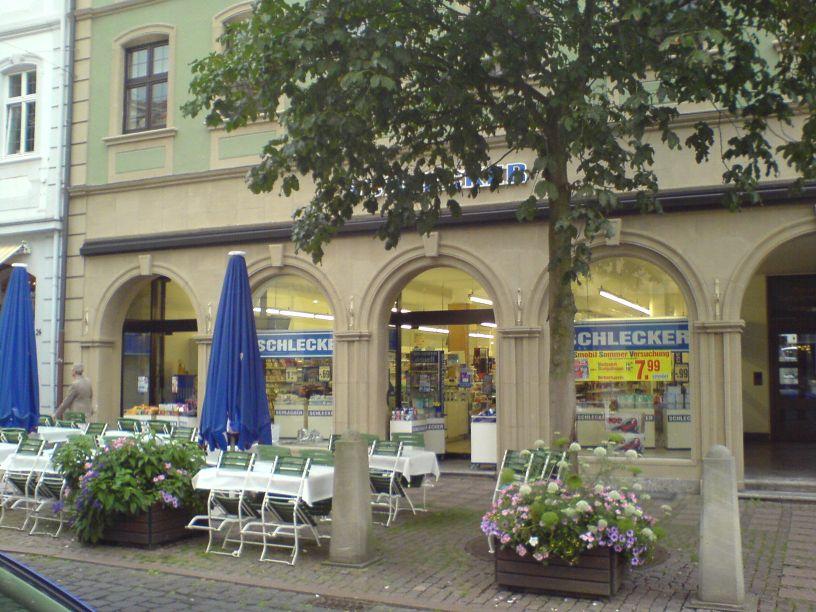 Fulda Kondome verboten - die betroffene Drogeriemarkt-Filiale im August 2008