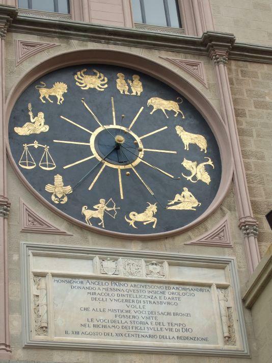 Messina Uhr seitliches Planetarium