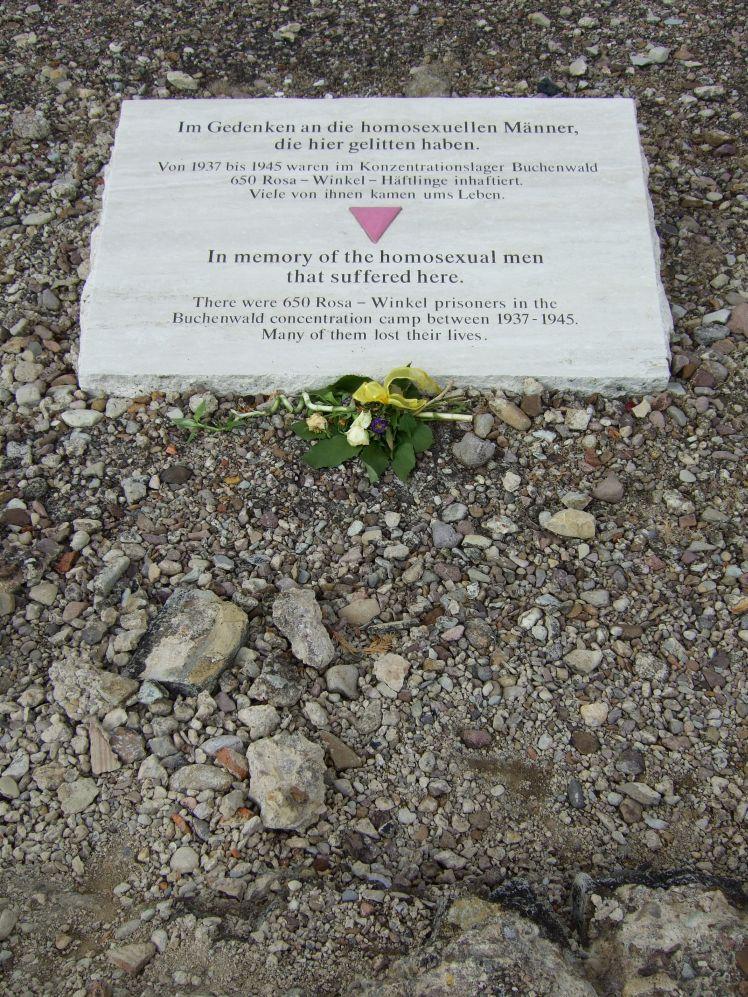 Buchenwald Gedenkstein homosexuelle NS Opfer
