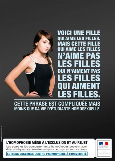 Frankreich: Kampagne gegen Homophobie an Hochschulen ((c) Ministre de l'Enseignement supérieur et de la Recherche)