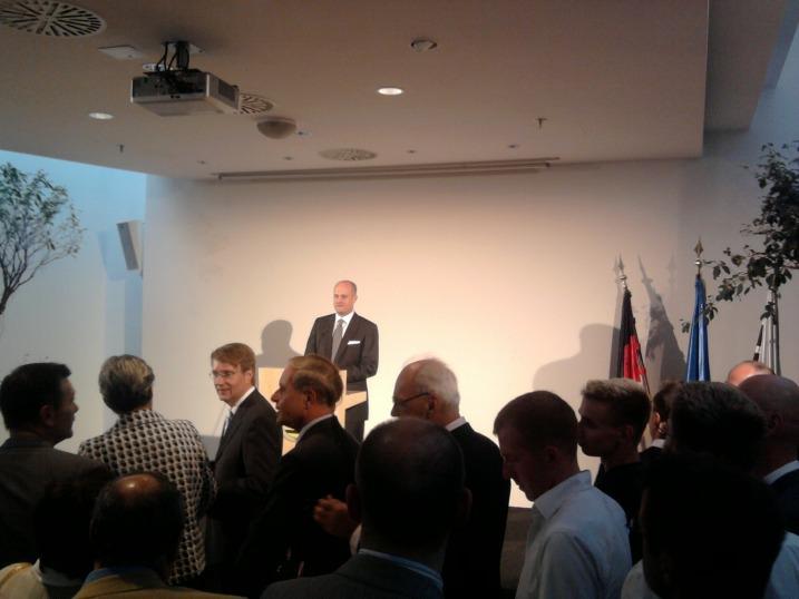 Jahresempfang 2009 der LSU / Begrüßung durch den LSU Bundesvorsitzenden Reinhard Thole