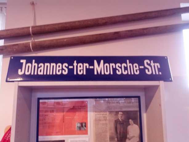 Johannes ter Morsche Straße, ehemaliges Strassenschild, Heimatmuseum Zinnowitz (Foto: Januar 2013)