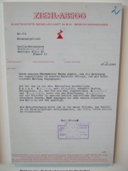Denunziation vermeintlich Homosexueller, 1941