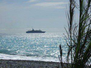 MS-Astoria beim Auslaufen aus dem Hafen von Nizza am 16. April 2008