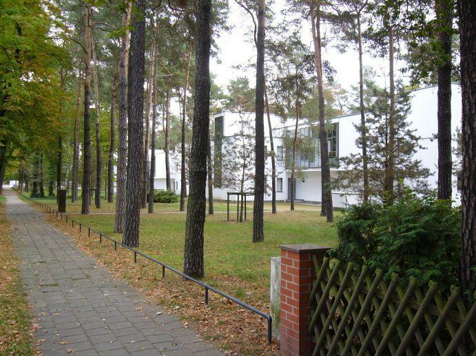 Dessau Blick auf Meisterhäuser