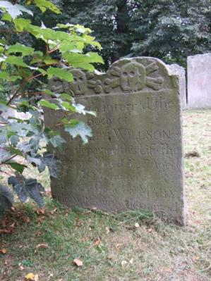 Grabstein auf dem Friedhof von Sandwich