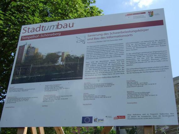 Sanierung des Schwerbelastungskörpers 2007 - 2009, Baustellenschild