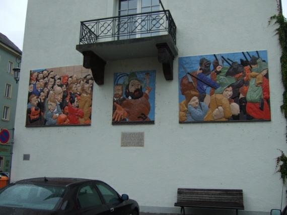 Konstanz, Majolika-Relief Johannes Grützke zur Erinnerung an Friedrich Hecker