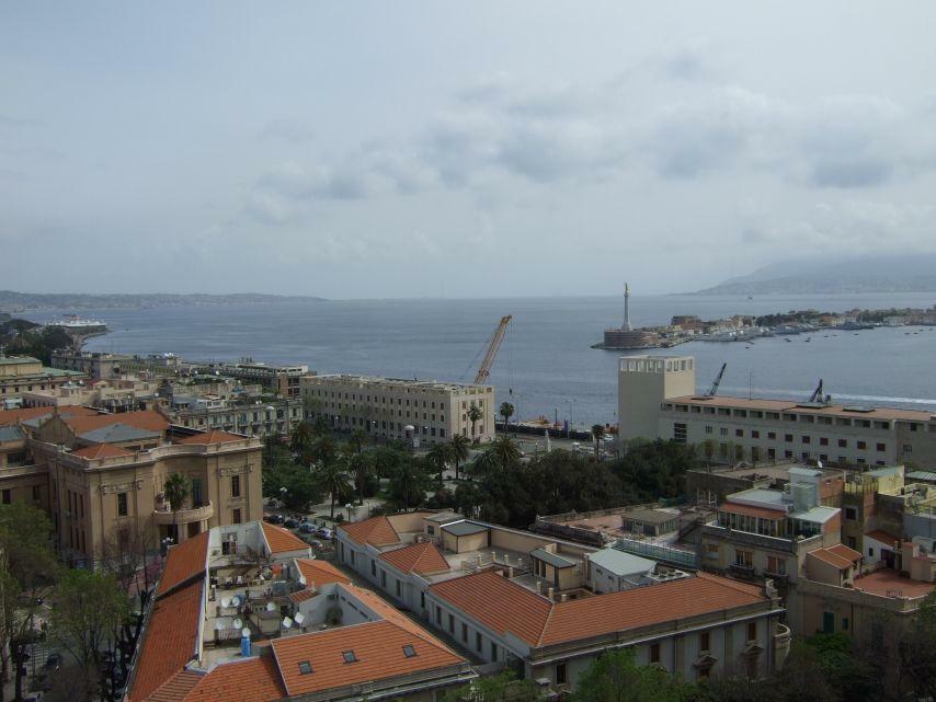 Strasse von Messina, Blick vom Dom Messina
