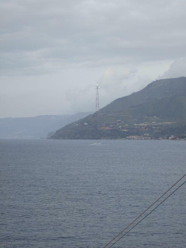 Strasse von Messina, Seite Festland