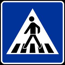 Fussgängerüberweg, Zeichen 350 Straßenverkehrsordnung