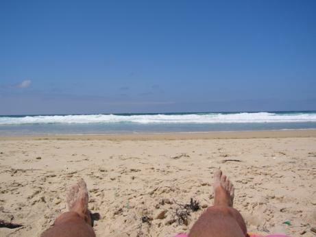 am Strand von Le Porge 2006