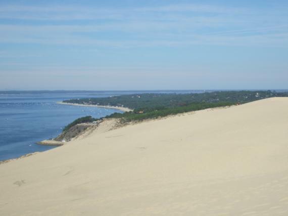 Dune du Pilat - Ausblick gen Osten