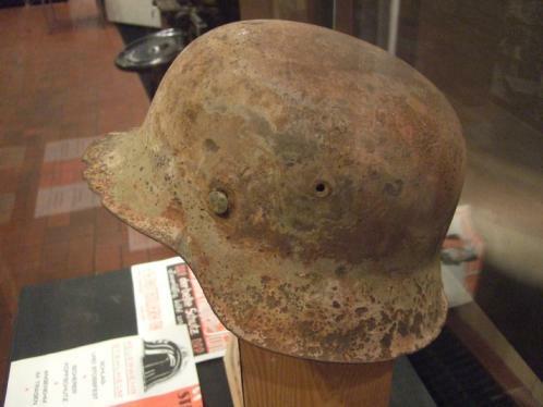 Stahlhelm im Hüttenmuseum Thale