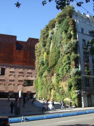 Der Vertikale Garten von P. Blanc in Madrid