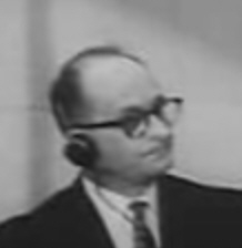 Eichmann-Prozess 1961: Adolf Eichmann während der Gerichtsverhandlung in Israel 1962