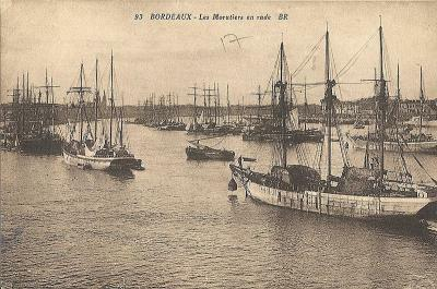 Bordeaux (Ansicht auf einer Postkarte von 1936; Foto wikimedia / Langladure)