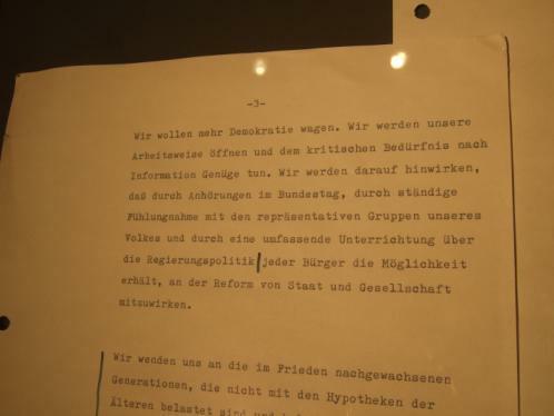 """""""Mehr Demokratie wagen"""" - Willy Brandts Regierungserklärung 1969"""