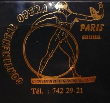 Continental Opera - Türschild der längst nicht mehr existierenden legendären Pariser schwulen Sauna