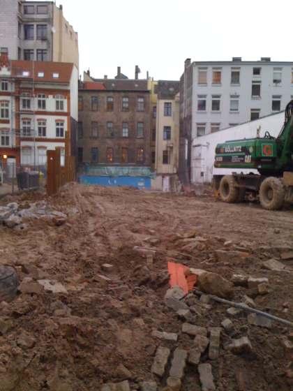 abgerissen - das Gebäude der früheren schwulen Pool Sauna