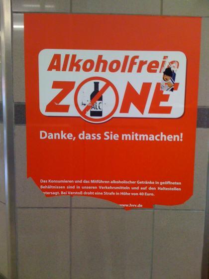 Alkoholverbot im ÖPNV - Alkoholfreie Zone Nahverkehr