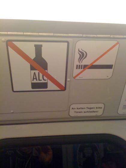 Alkohol-Verbot im HVV Hamburg