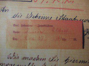 Denunziation Homosexueller, Hamburg 1937, Vermerk Festnahme