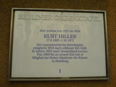 Kurt-Hiller-Gedenktafel an Hillers Geburtshaus