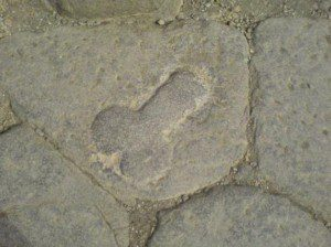 Penis als Wegweiser zum 'Lupanare' in Pompeji