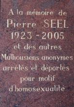 Pierre Seel Gedenk-Plakette Mulhouse (Foto: devoiretmemoire.org)