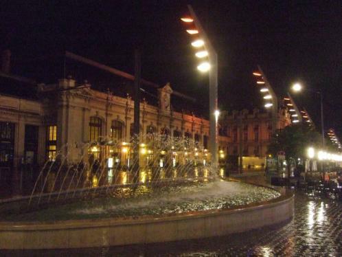 Bordeaux Bahnhof St. Jean nachts