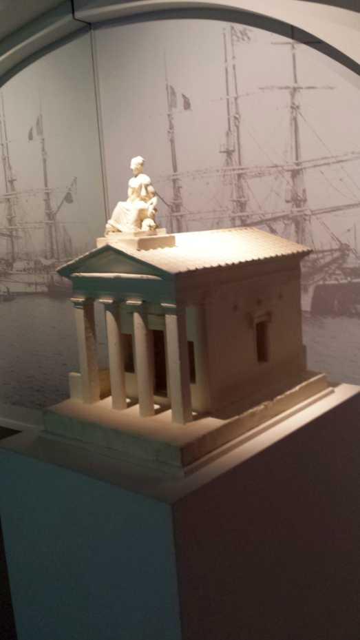 Bordeaux pont de Pierre, Modell eines der Pavillons