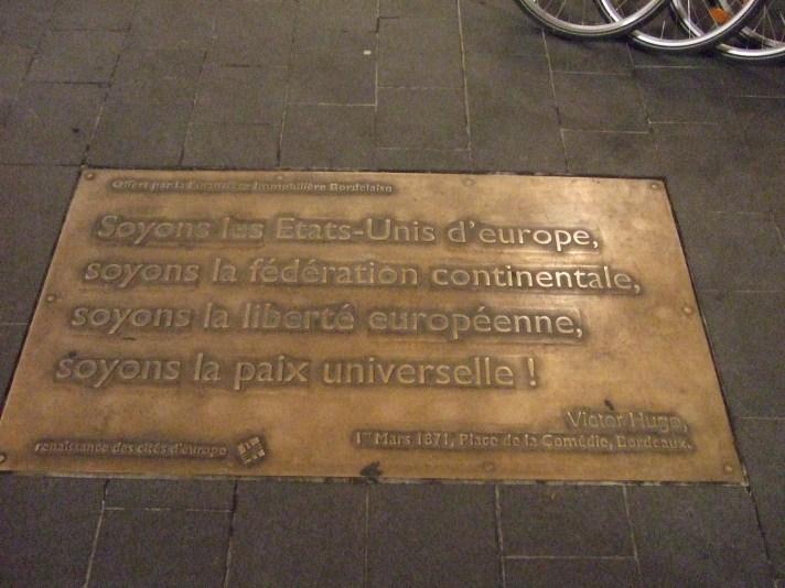 soyons les États-Unis d'Europe (Victor Hugo)