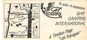 Gay Loisirs 1983 (Flyer)