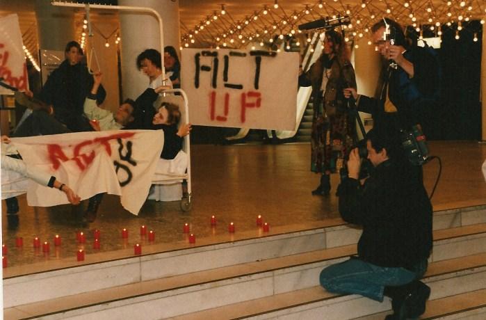 ACT UP beim 3. Deutschen Aids-Kongress 1990 in Hamburg © Foto U.K. Bäcker