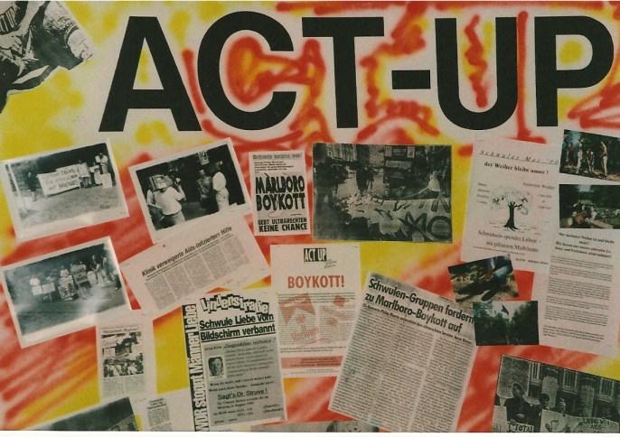 ACT UP Proteste 1990 in Hamburg © Foto U.K. Bäcker