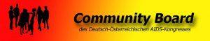 Community Beteiligung: Logo des Community Boards des Deutsch-Österreichischen Aids-Kongresses (Logo: Community Board, www.http://www.cbdoeak.net)
