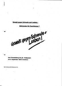 Gewalt gegen Schwule und Lesben - Nährboden für Faschismus? (1989)