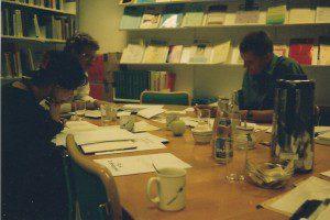 Immuno Community Advisory Board, einige der Mitglieder bei einer Sitzung des CAB vom 1. bis 4. September 1994 im Center for Medical Ethics, Oslo