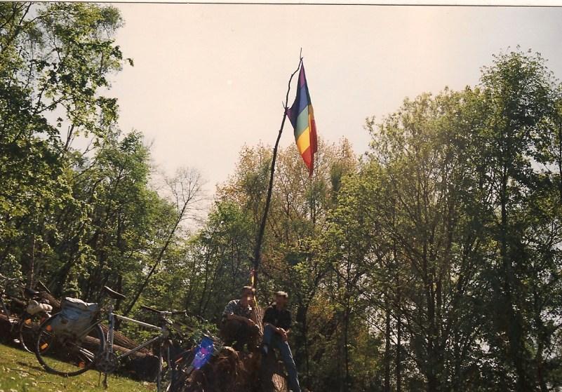 ACT UP Köln / Aktion 'Aachener Weiher begrünen', 1. Mai 1990