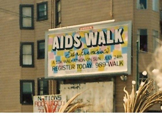 Plakat für den Aids Walk 1988