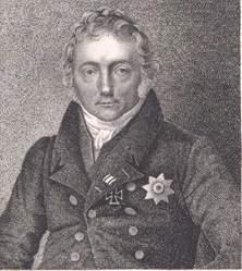 Namensgeber der Motzstrasse - Friedrich von Motz, zeitgenössisches Portrait des 1830 verstorbenen preußischen Staatsmanns; Urheber: von Kruger