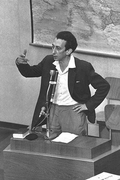 Abba Kovner während des Eichmann-Prozesses 1961