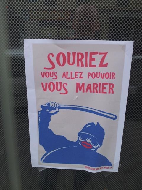 Aides Paris: Homophobes Plakat (Foto: Aides)